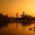 silhueta · sikh · oração · templo · edifício · nascer · do · sol - foto stock © szefei