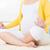 asian · donna · incinta · prenatale · yoga · classe - foto d'archivio © szefei