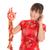 chinese cheongsam girl holding fire crackers stock photo © szefei