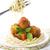 спагетти · базилик · томатный · вилка · соус - Сток-фото © szefei
