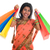 indian woman in sari dress holding shopping bags stock photo © szefei