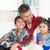 indian · vader · kinderen · gelukkig · eengezinswoning · wonen - stockfoto © szefei