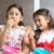 sibling eating snacks stock photo © szefei