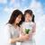 Asia · familia · toma · atención · planta · feliz - foto stock © szefei