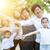 big group of asian multi generations family outdoors fun stock photo © szefei