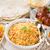 indiano · refeição · arroz · caril · de · frango · leite · chá - foto stock © szefei