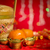 Chinese New Year objects on red background stock photo © szefei
