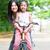 ázsiai · család · lovaglás · bicikli · szülő · gyermek - stock fotó © szefei