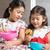 children eating snacks stock photo © szefei