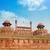 piros · erőd · Delhi · India · citadella · égbolt - stock fotó © szefei
