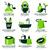 flat icon set for green eco bathroom stock photo © szsz
