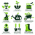flat icon set for green eco garden stock photo © szsz