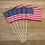 small american flags on aged wood stock photo © tab62
