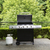 outdoor cooker with lid in open position on home patio stock photo © tab62