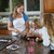 mother and daughters making cookies from raw dough stock photo © tab62