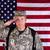 солдата · американский · флаг · вид · сзади · небе · человек · стране - Сток-фото © tab62
