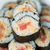 picante · sushi · alga · branco · prato · fundo - foto stock © tab62