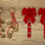 christmas bows and bells on aged wood stock photo © tab62