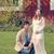 expecting couple enjoying the nice day outdoors stock photo © tab62