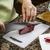slicing pork meat stock photo © tab62