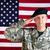 成熟した · 軍事 · 兵士 · 孤立した · 白 · 背景 - ストックフォト © tab62
