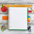 basic school supplies with apple on white wooden desk stock photo © tab62