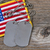 american flag with dog tags on rustic wood stock photo © tab62