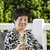 senior · mulher · vidro · vinho · vinho · tinto - foto stock © tab62