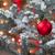 rouge · ornement · suspendu · arbre · de · pin · lumières - photo stock © tab62