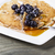 golden maple syrup with blueberry pancakes stock photo © tab62