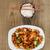kínai · étel · tál · zöld · tyúk · vacsora - stock fotó © tab62
