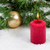 burning candle with christmas objects covered with fresh snow stock photo © tab62