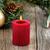 piros · égő · karácsony · gyertya · örökzöld · rusztikus - stock fotó © tab62