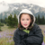 young girl hiking outdoors during early spring in the mountains stock photo © tab62
