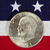 eisenhower silver dollar on american flag stock photo © tab62