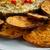 freshly baked yam slices and fish stock photo © tab62