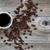 chicchi · di · caffè · rustico · legno · carta · caffè - foto d'archivio © tab62