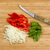 fresh vegetables being prepared to cook on bamboo cutting board stock photo © tab62