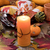 holiday candle glowing for dinner setting for fall season with r stock photo © tab62