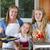 dziecko · jedzenie · zboża · mama · kuchnia · domu - zdjęcia stock © tab62