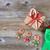 xmas dinnerware setting for the festive holiday season on rustic stock photo © tab62