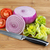 fresh tomato lettuce and onion on cutting board stock photo © tab62