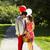 Pareja · cesta · de · picnic · campo · hombre · diversión · caminando - foto stock © tab62