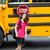 スクールバス · 停止 · にログイン · 学校 - ストックフォト © tab62