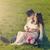 gelukkig · vader · zwangere · vrouw · luisteren - stockfoto © tab62