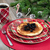 pancake breakfast for christmas day with evergreen branches on r stock photo © tab62