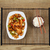 spicy chinese chicken dish with bowl of rice stock photo © tab62