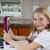 meisje · huiswerk · keuken · kind · schrijven · leren - stockfoto © tab62