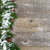 christmas border with snow covered evergreen branches on rustic stock photo © tab62