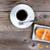 暗い · コーヒーカップ · 自家製 · クッキー · 表 · コーヒー - ストックフォト © tab62